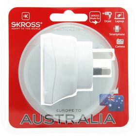 SKROSS Country stekker beschermend contact naar Australië wit